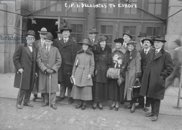 C.P.I. Delegates to Europe, 1917-8 (b/w photo)