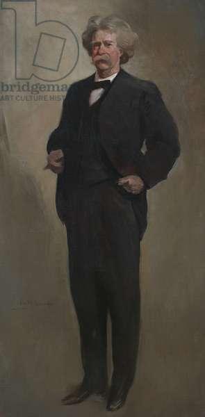 Samuel Langhorne Clemens (Mark Twain) (1835-1910), c.1912-13 (oil on canvas)