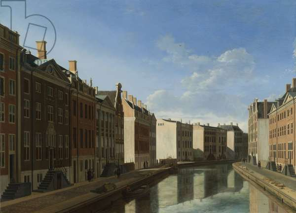The 'Golden Bend' in the Herengracht, Amsterdam from the East, 1671-2 (oil on panel)