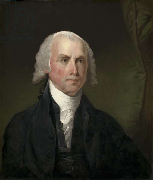 James Madison c.1821 (oil on wood)