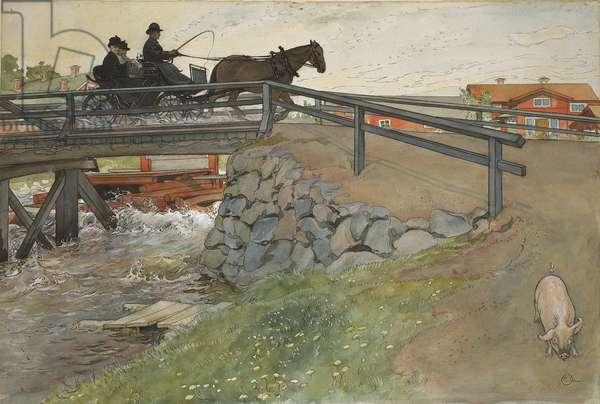 The Bridge, from 'A Home' series, c.1895 (w/c on paper)