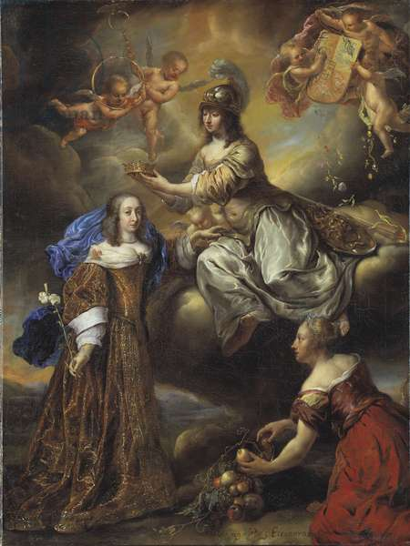 Allegory of Queen Hedvig Eleonora as Minerva, 1654 (oil on canvas)