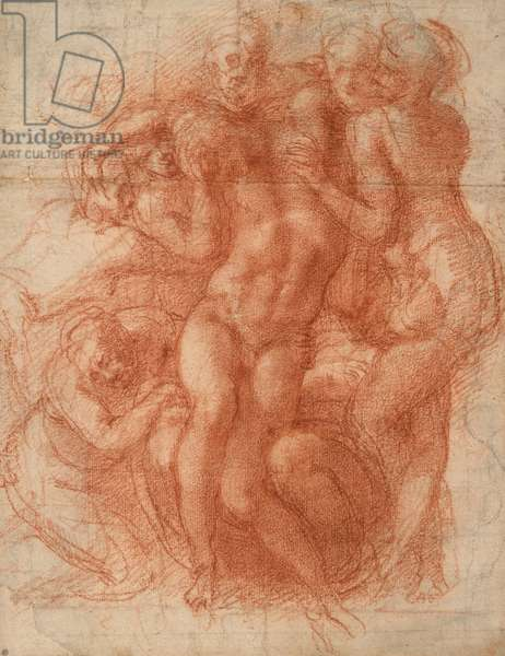 Lamentation, c.1530 (red chalk)