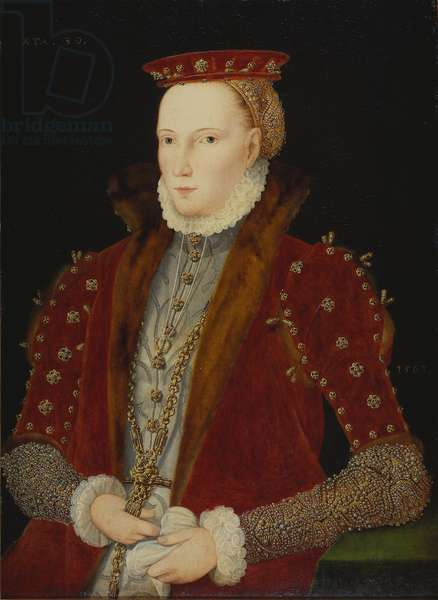 Portrait of a Lady, thought to be Queen Elizabeth I, 1563 (oil on panel)