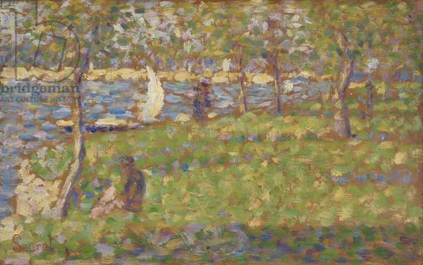 "Study for ""La Grande Jatte"", 1884-5 (oil on wood)"