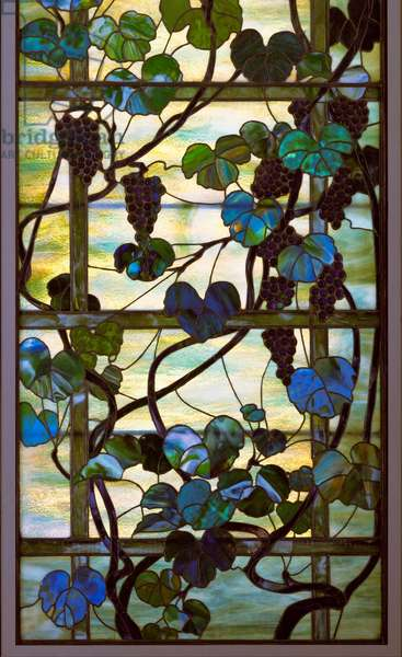 Grapevine Panel, c.1902-15 (leaded favrile glass)