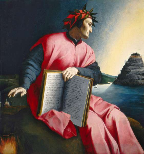 Allegorical Portrait of Dante, late 16th century (oil on panel)
