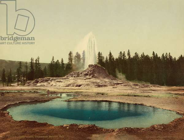 Castle Geyser, Yellowstone National Park, c.1898 (photochrom)
