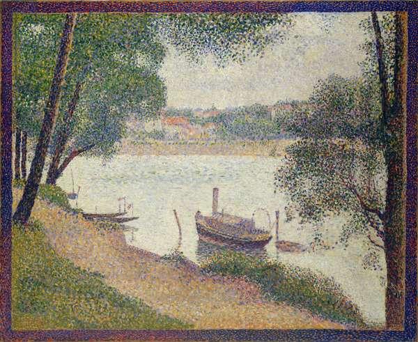 Gray Weather, Grande Jatte, c.1886-88 (oil on canvas)