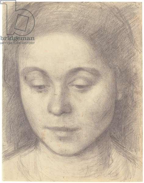 Portrait of Ida, the Artist's Wife, 1898 (pencil)