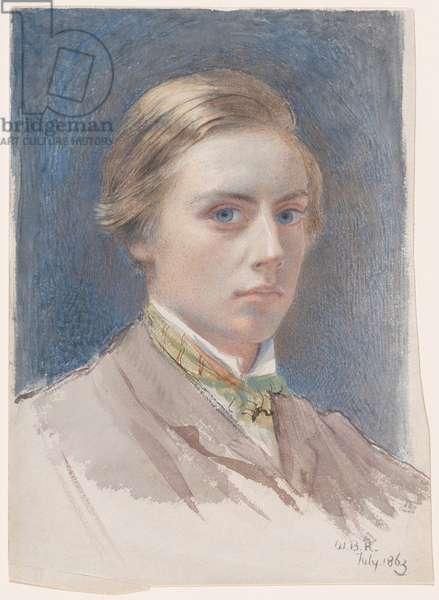 Self-portrait, aged 21, 1863 (watercolour)