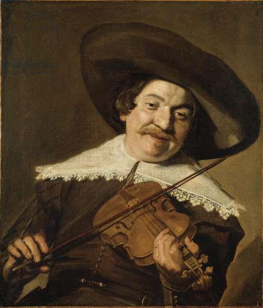 Daniel van Aken Playing the Violin, c.1640 (oil on canvas)