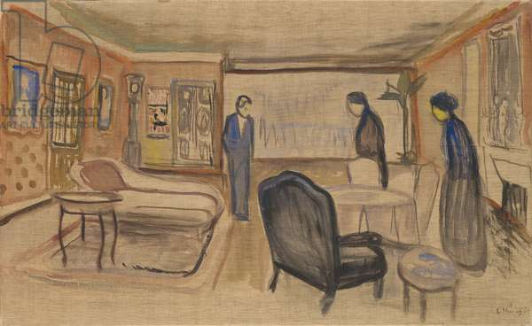 "Scene of Ibsen's ""Ghosts"", 1906 (tempera on canvas)"