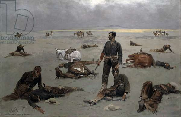What an Unbranded Cow Has Cost, 1895 (oil on canvas)