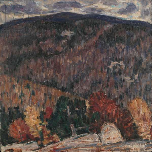 Landscape No. 25, c.1908-9 (oil on paperboard)