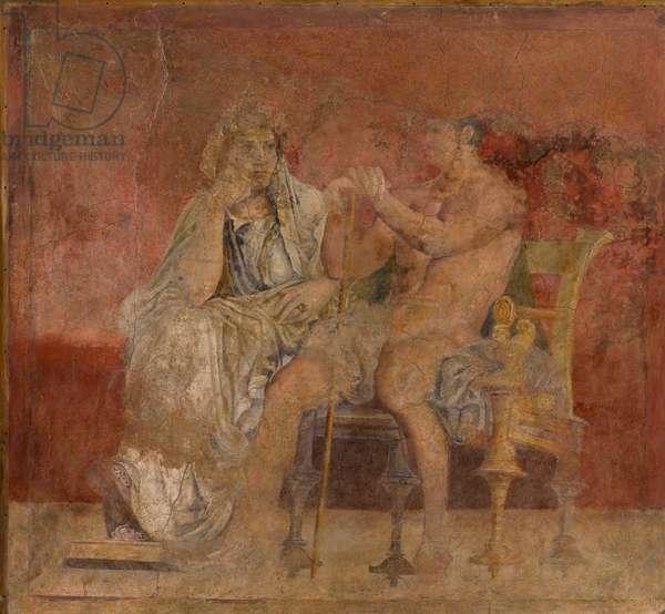 Seated couple, c.50–40 B.C. (fresco)