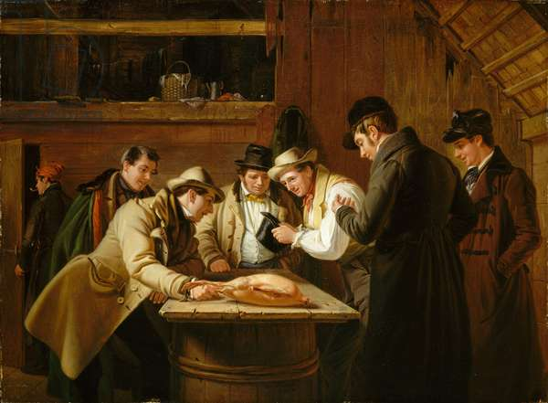 The Raffle (Raffling for the Goose), 1837 (oil on mahogany)