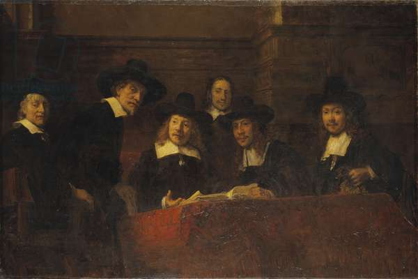Staalmeesters, After Rembrandt, 1876-77 (oil on canvas)