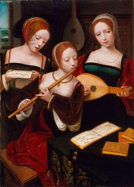 Three Musicians, c.1530 (oil on panel)