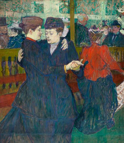 At the Moulin Rouge Two Women Walzing, 1892 (oil on canvas)