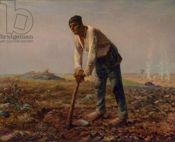 Man with a Hoe, c.1860-62 (oil on canvas)
