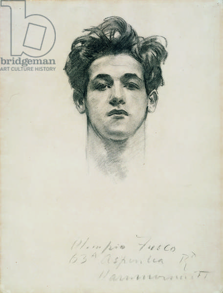 Olimpio Fusco, c.1900-10 (charcoal & stump on paper)
