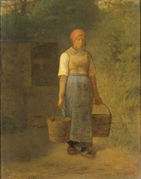 Girl carrying Water, c.1855-60 (oil on canvas)