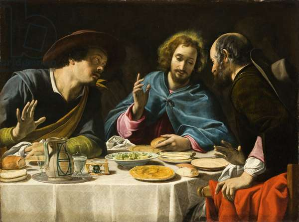 The Supper at Emmaus, c.1625 (oil on canvas)
