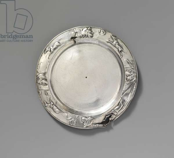Silver plate, 1st century A.D.