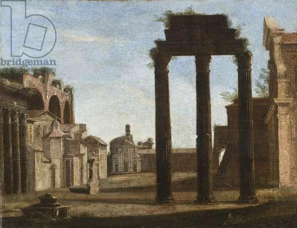 Campo Vaccino in Rome, c.1650 (oil on canvas)
