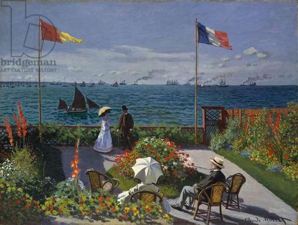 Garden at Sainte-Adresse, 1867 (oil on canvas)