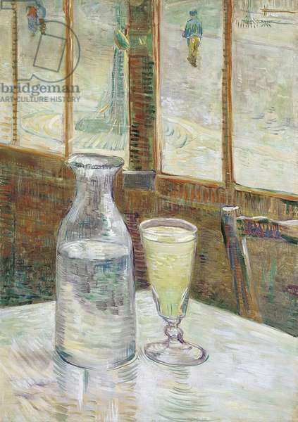 Cafe Table with Absinthe, 1887  (oil on canvas)
