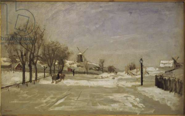 Winter. View of Eriksberg, Stockholm, c.1880 (oil on canvas)