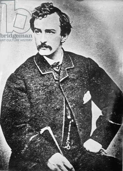 Portrait of John Wilkes Booth, 1861-65 (b/w photo)
