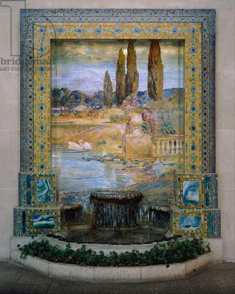 Garden Landscape, c.1905–15 (favrile-glass mosaic)