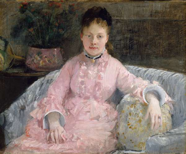 The Pink Dress, c.1870 (oil on canvas)