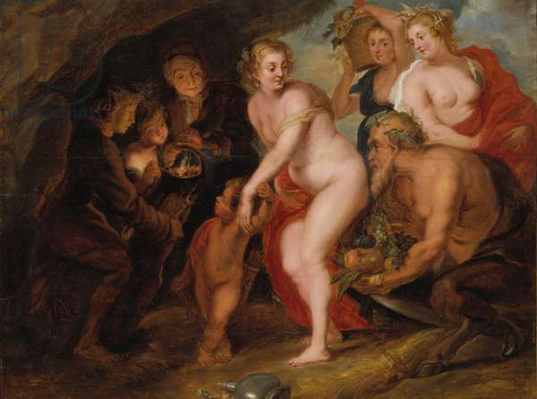 Without Ceres and Bacchus Venus would freeze, c.1650 (oil on oak)