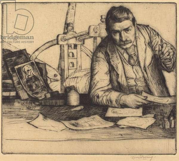 Self-Portrait, 1897 (drypoint)