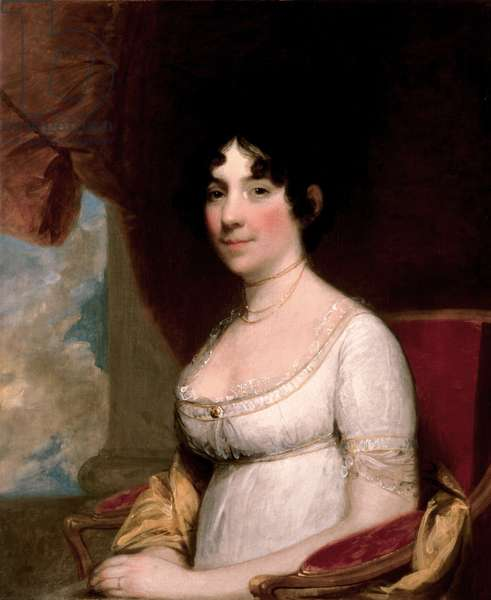Mrs. Dolley Madison, 1804 (oil on canvas)