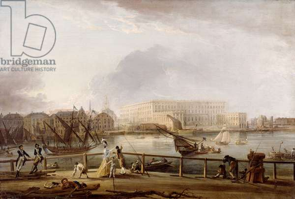 View of Stockholm Palace from Blasieholmen (oil on canvas)