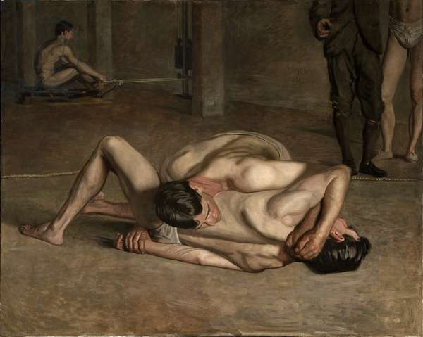 Wrestlers, 1899 (oil on canvas)