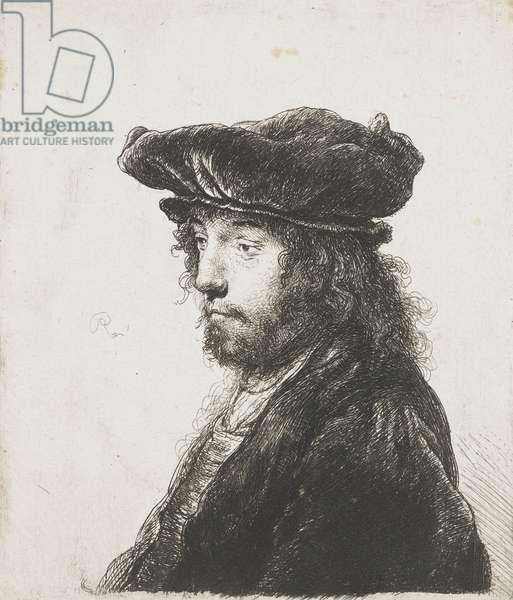 Fourth Oriental head, after Jan Lievens, 1633-37 (etching)
