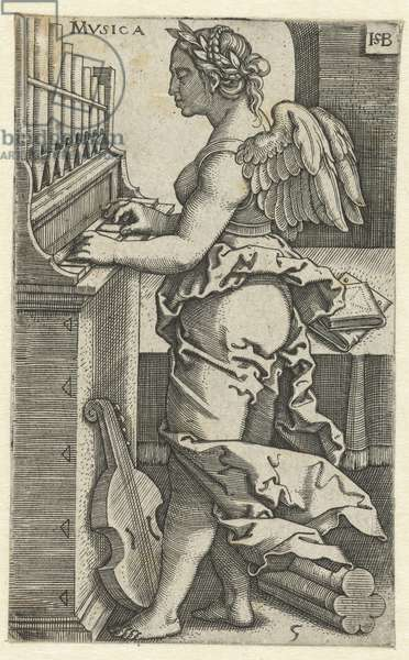 Music (Musica), 1510-1550 (engraving)