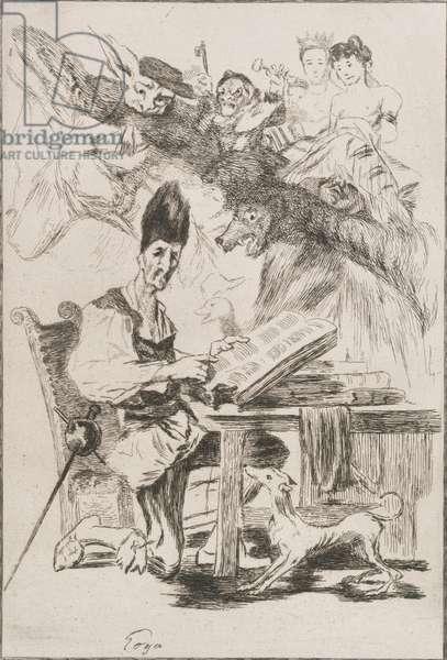 Don Quichotte, 1860 (etching)
