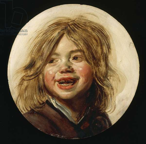 Laughing Child, c.1620-5 (oil on wood)