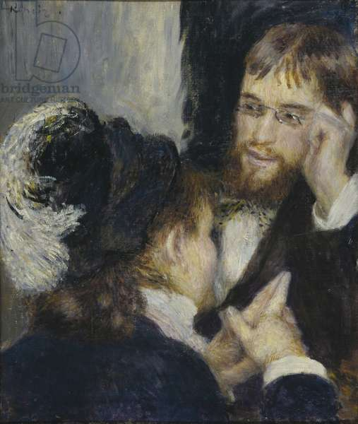 Conversation with the Gardener, c.1870 (oil on canvas)