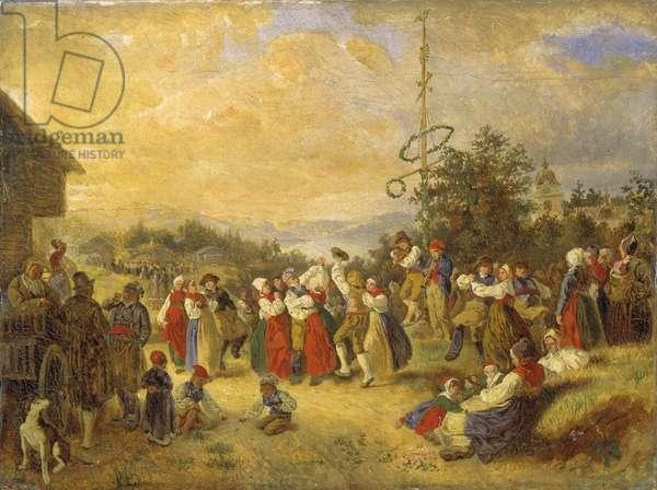 Midsummer Dance at Rattvik, 1852 (oil on canvas)