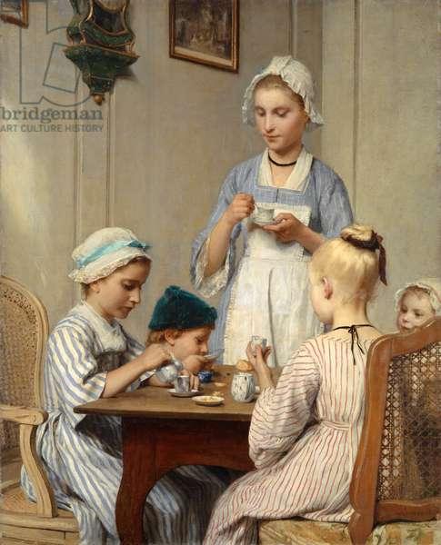 Children at Breakfast, 1879 (oil on canvas)