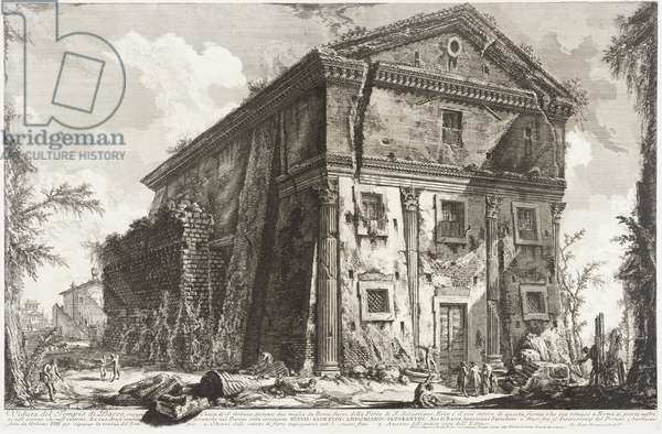 View of the Temple of Bacchus, 1760-78 (etching)