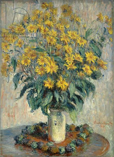 Jerusalem Artichoke Flowers, 1880 (oil on canvas)